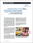 Benefits of One-to-One Marketing for Digital Signage Using Customer Recognition