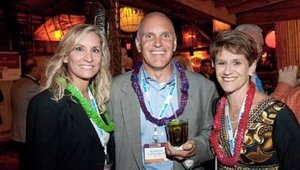 From left: Barbara Kane with Ecolab, Rod Friesen of Truitt Bros., and Ann Nickolas with the Women's Foodservice Forum.