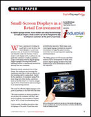 Small-Screen Displays in a Retail Environment