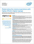 Modernizing the cinema experience with highly efficient digital signage