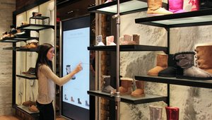 UGG trying on interactive digital signage in new DC concept store