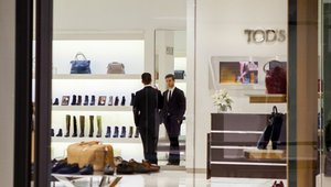 <p>From a digital perspective, video marketing content was added behind the cash register to give customers an in-depth look at the brand and other promotional materials. The resulting design merged Tod's concept and guidelines with a sleek and refined interior offering shoppers a versatile, premium outlet experience.</p>  <p> </p>