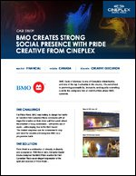 BMO Creates Strong Social Presence with Pride Creative from Cineplex
