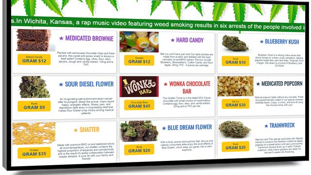 Cannabis dispensaries get the munchies with POS-integrated menu boards