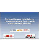 Webinar: Turning Servers into Sellers - Increase Sales and Profits with Salesmanship Training