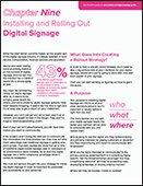 Installing and Rolling Out Digital Signage