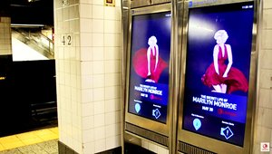 Iconic Marilyn Monroe 'skirt' scene re-created in the NYC Subway