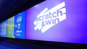 Lottery store scratches off digital signage winner