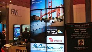 Visitors to CETW were greeted by bright digital signage from Four Winds Interactive.