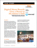 Digital Menu Boards Give a Boost to McAlister's Deli