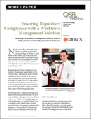 Ensuring Regulatory Compliance with a Workforce Management Solution