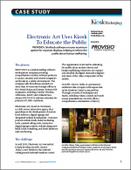 Electronic Art Uses Kiosk To Educate the Public