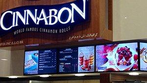 UAE Cinnabon franchisee deploys WAND digital menu boards