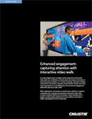 Enhanced engagement: capturing attention with interactive video walls