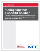 Putting together a 4K/UHD Solution