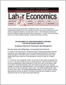Labor Economics: An Assessment of Labor Management Standards for the Restaurant Industry