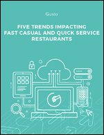 Five Trends Impacting Fast Casual and Quick Service Restaurants