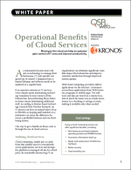 Operational Benefits of Cloud Services