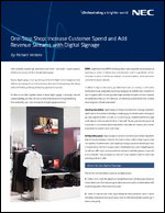 One-Stop Shop: Increase Customer Spend and Add Revenue Streams with Digital Signage