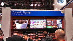 And Intel's digital menu board solution for Dunkin' Donuts was tasty.