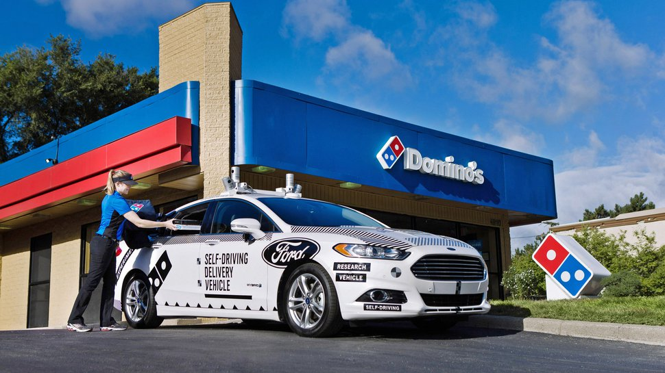 Ford, Domino's test self-driving pizza deliveries