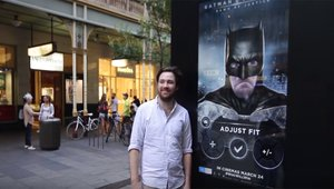 'Batman v Superman' soars with augmented reality kiosks