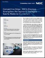 NEC's Displays Strengthen Pennsylvania College's Sports Medicine Curriculum