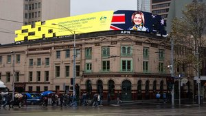 Digital signage used to reveal Australian Olympic Team's flagbearer