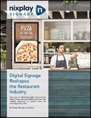 Digital Signage Reshapes the Restaurant Industry
