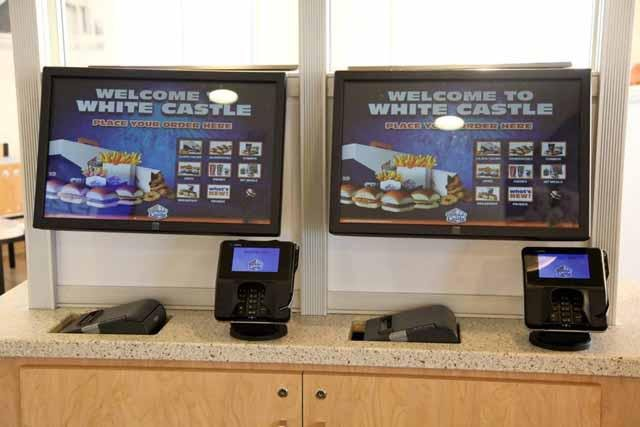 Remodeled White Castle With Self Ordering Stations Kiosk