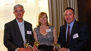Warren Solocheck (left) was a judge who helped determine the honorees for the Fast Casual Top 100 Movers & Shakers. He was joined by Lisa Solocheck and Paul Prassa, a regional sales manager for event sponsor Henny Penny.
