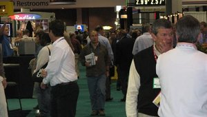 The trade show floor was an endless area of food, kiosks and other technology.