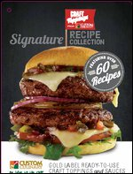 Craft Toppings Burger Recipe Booklet