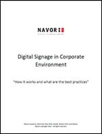 Digital Signage in Corporate Environment | Navori Labs Digital Signage Engine