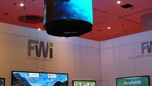 A NanoLumens shaped LED display highlighted the FWi booth.