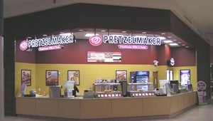 The test market Pretzelmaker stores reveal the variations of the brands' model store.