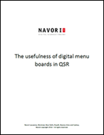 The usefulness of digital menu boards in QSR | Navori Labs Digital Signage Engine