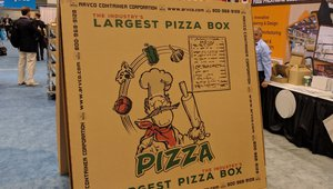 The world's largest pizza box?
