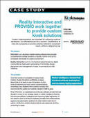 Reality Interactive and PROVISIO work together to provide custom kiosk solutions