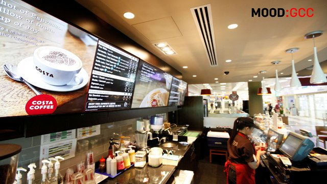 BrightSign, Mood Media deliver 1st Costa Coffee digital menu boards