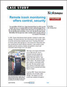 Remote kiosk monitoring offers control, security