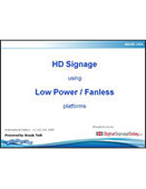 Webinar: HD Signage Using Low Power & Fanless Solutions