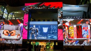 Transformers roll out with projection mapping in Colombia