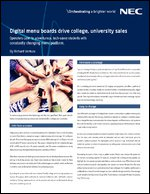 Digital menu boards drive college, university sales