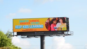 Digital billboards stress keeping kids learning, safe and healthy this summer