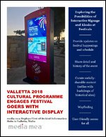 Valletta 2018 CultUral Programme Engages Festival Goers with Interactive Display