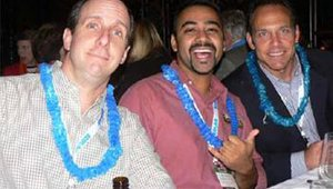 From left: Jeff Epstein (MonkeyMedia Software), Ron Parikh (Genghis Grill) and Eric Ersher (Zoup) * Photo provided by Linda Duke