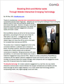 Boosting Brick-and-Mortar sales Through Mobile Interactive Emerging Technology