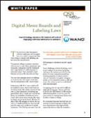 Digital Menu Boards and Labeling Laws