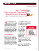 Using Flexible Integration for Customized Digital Signage Solutions